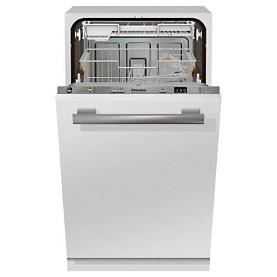 Miele G4780SCVI Slimline Fully Integrated Dishwasher, White / Silver