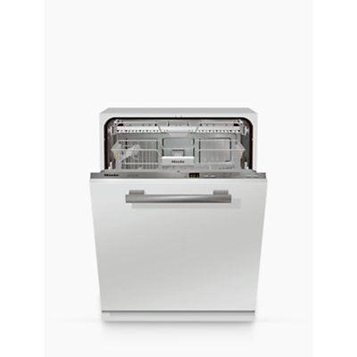 Miele G4263SCVI Fully Integrated Dishwasher, White/Stainless Steel