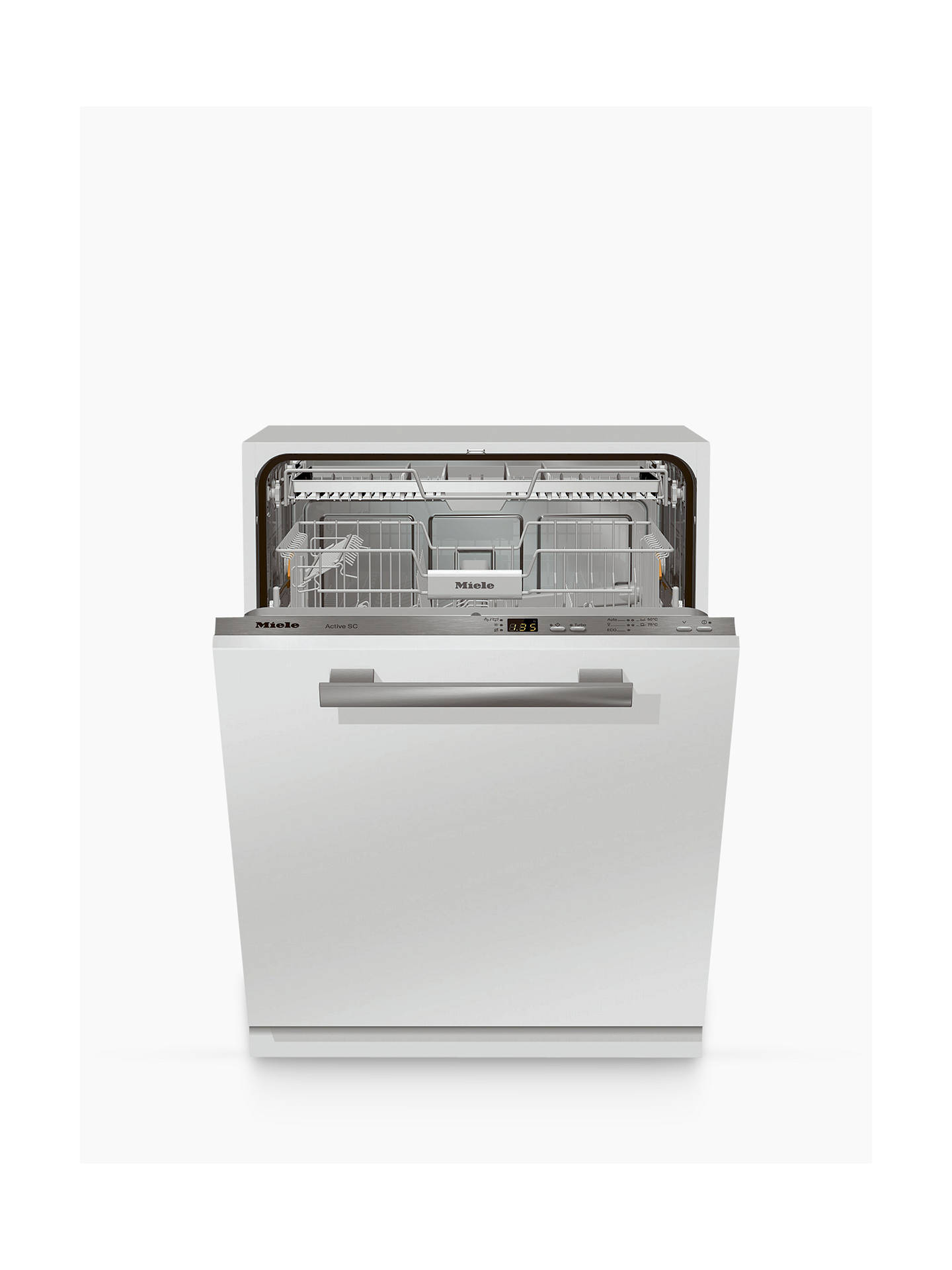 Buy Miele G4263SCVI Fully Integrated Dishwasher, White/Stainless Steel Online at johnlewis.com