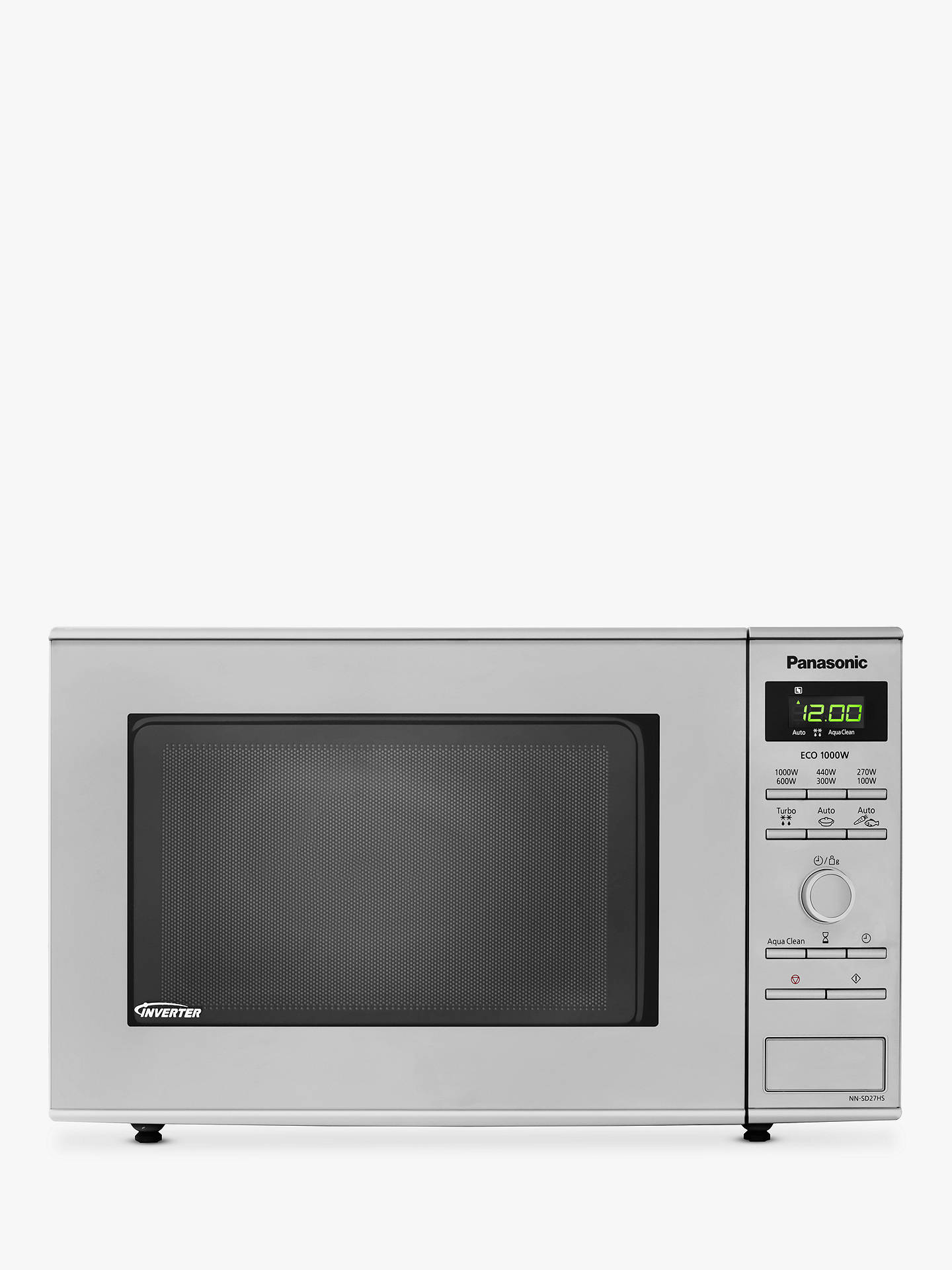 Panasonic Nn Sd27hsbpq Microwave Stainless Steel Online At Johnlewis