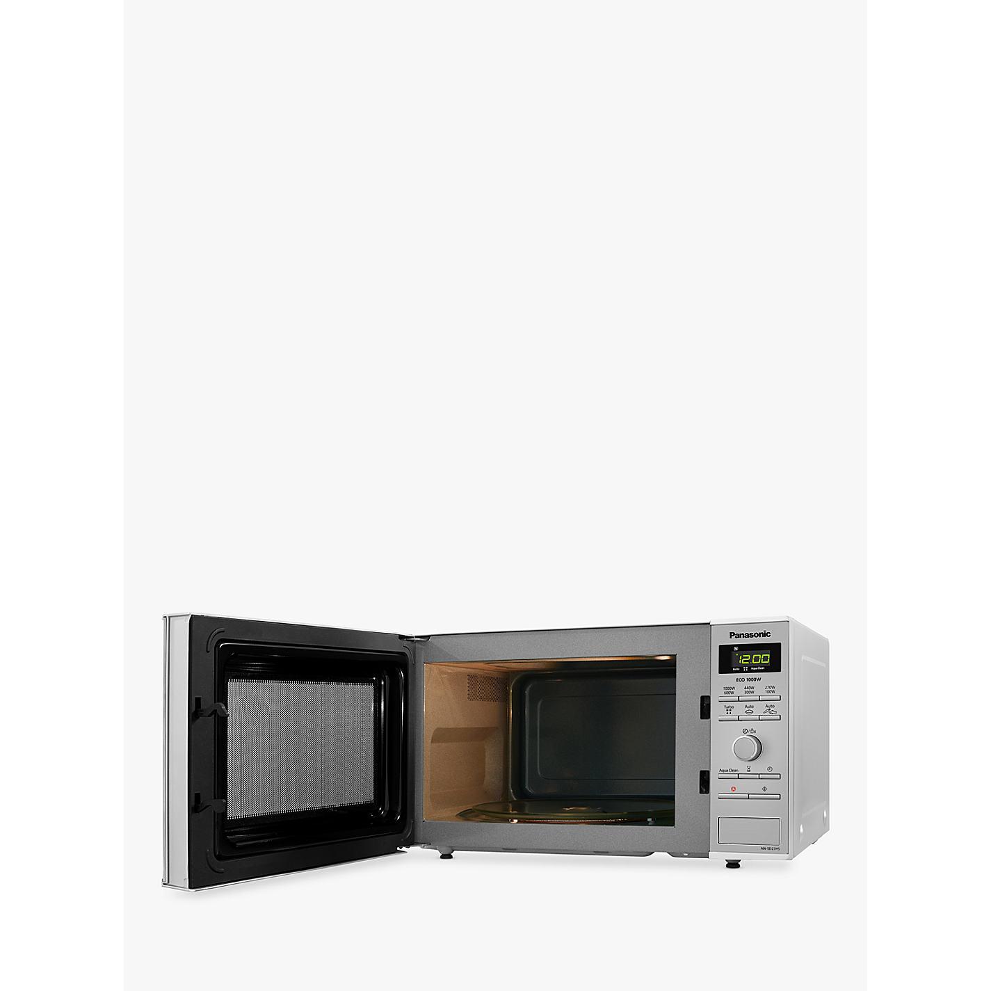 Panasonic Nn Sd27hsbpq Microwave Silver Online At Johnlewis