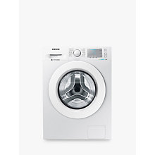 Buy Samsung WW90J5456MA ecobubble™  Freestanding Washing Machine, 9kg Load, A+++ Energy Rating, 1400rpm Spin, White Online at johnlewis.com