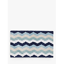 Buy John Lewis Zig Zag Bath Mat, 50 x 80cm Online at johnlewis.com