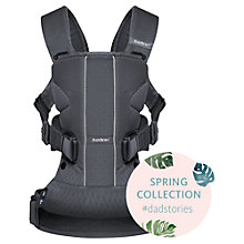Buy BabyBjörn One Air Baby Carrier, Anthracite Online at johnlewis.com