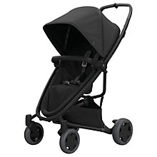 Buy Quinny Zapp Flex Plus Pushchair, Black/Black Online at johnlewis.com