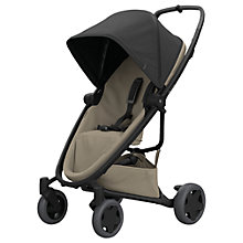 Buy Quinny Zapp Flex Plus Pushchair, Black/Sand Online at johnlewis.com