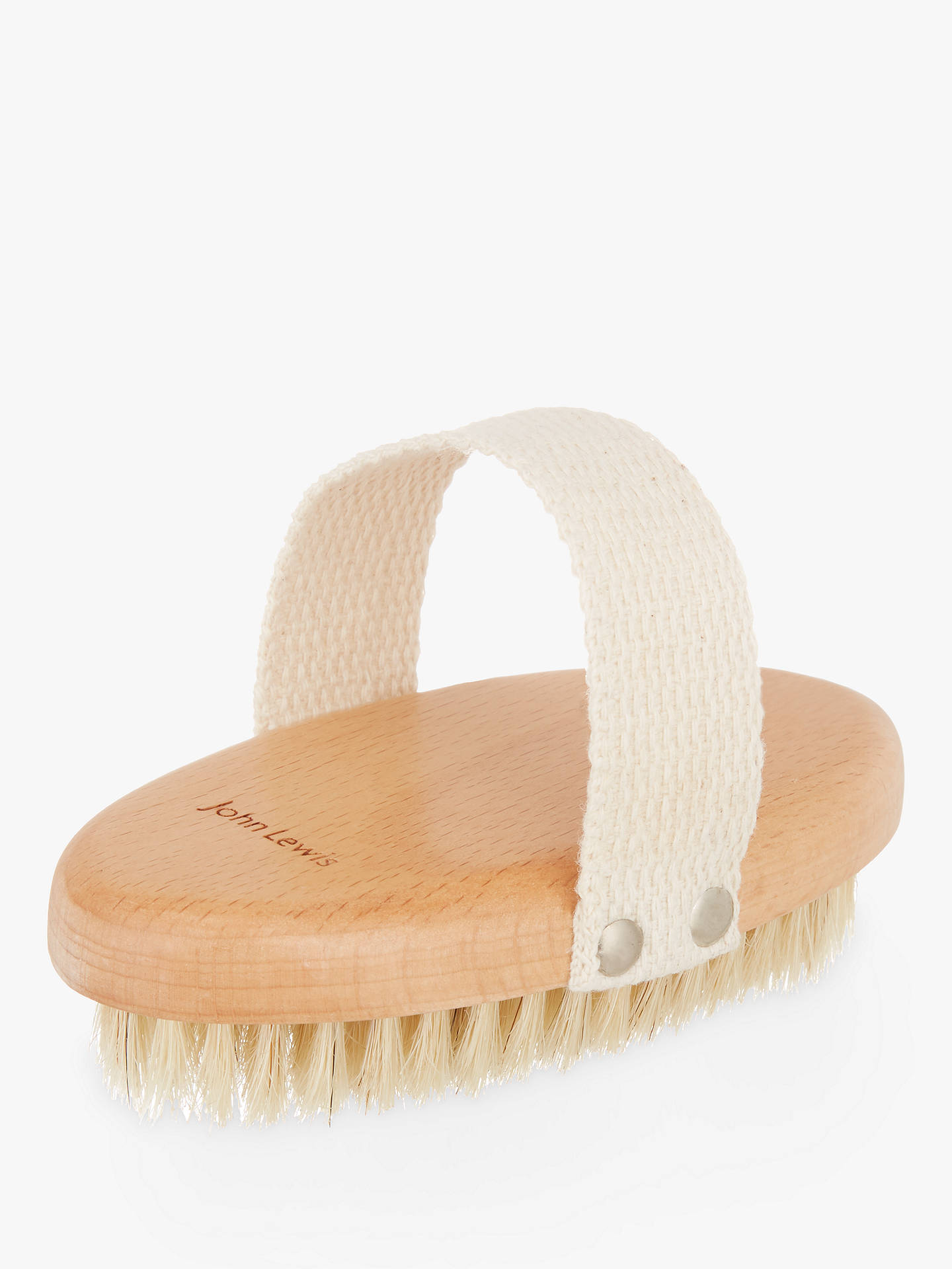 BuyCroft Collection Handheld Beech Bristle Brush, Natural Online at johnlewis.com
