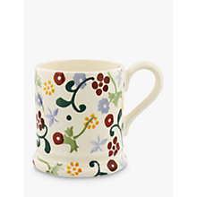 Buy Emma Bridgewater Polka Spring Floral Half Pint Mug, Multi, 284ml Online at johnlewis.com