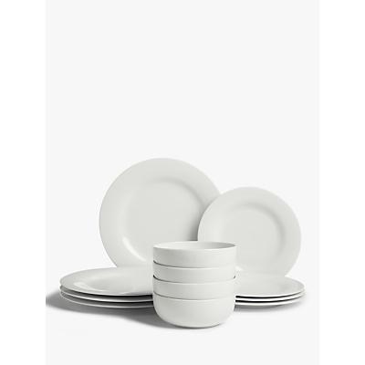 Product photo of House by john lewis eat round rim dinnerware set 12 piece white