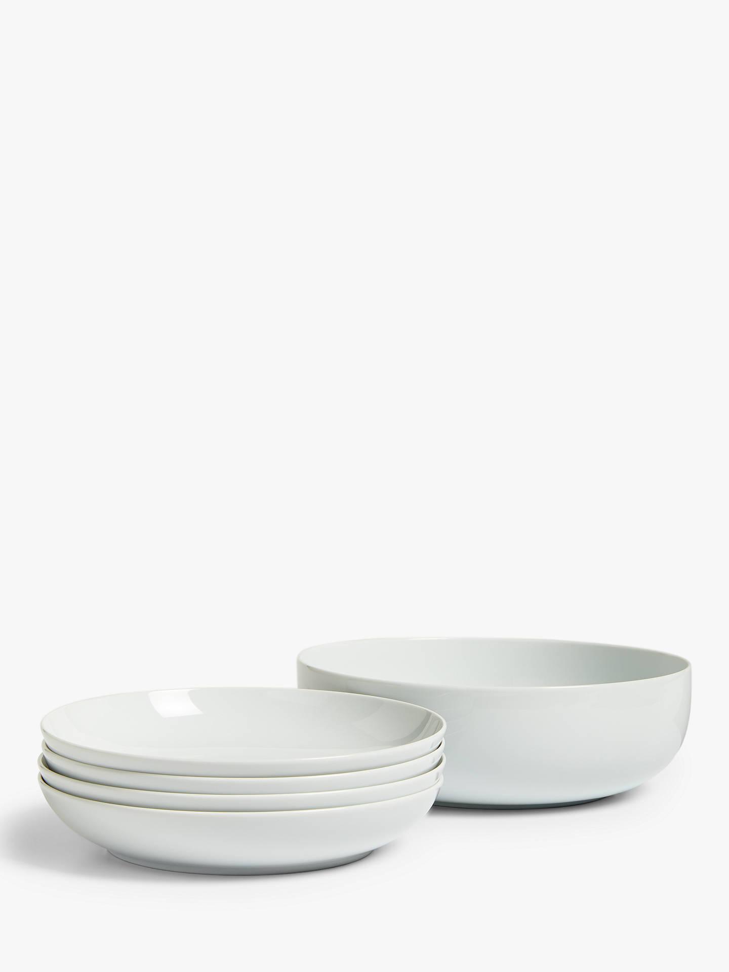 House By John Lewis Eat Pasta Dinnerware Set White 5 Pieces At