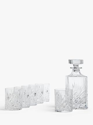 John Lewis & Partners Sirius Crystal Glass Decanter and Tumblers Set, 7 Pieces