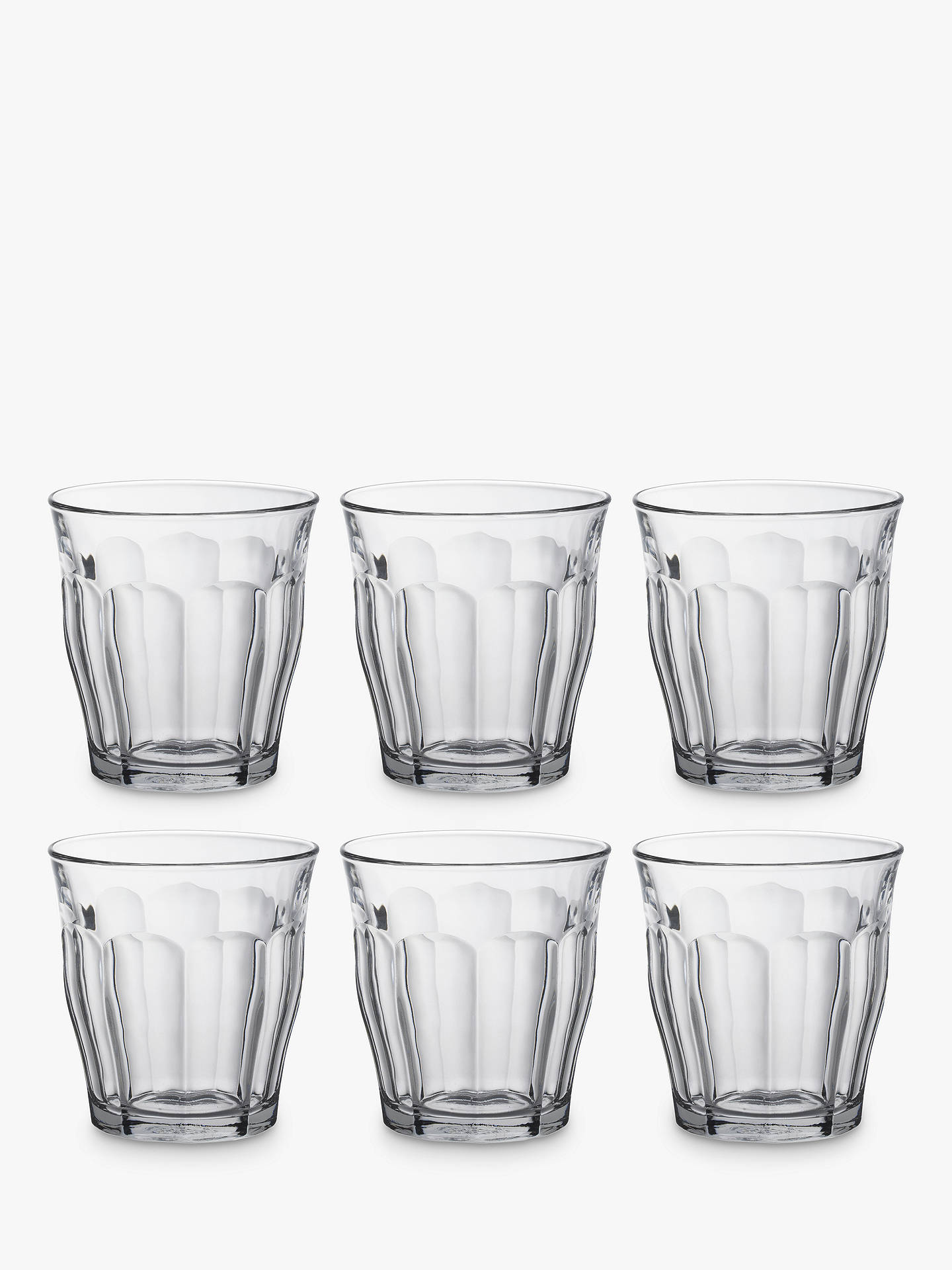 BuyDuralex Picardie Tumbler, Set of 6, Clear, 310ml Online at johnlewis.com