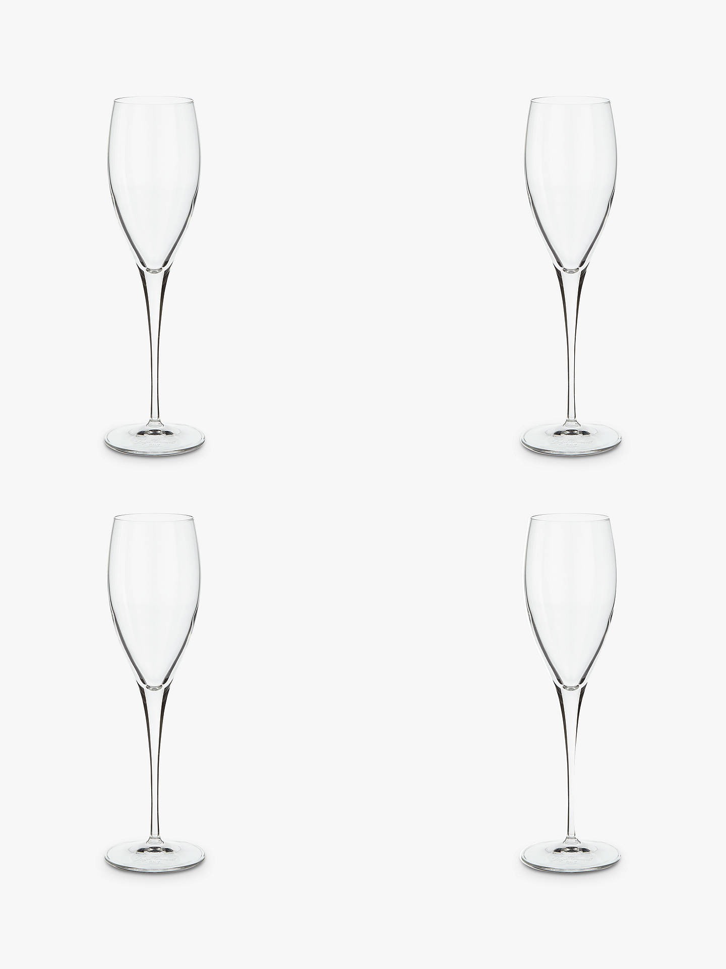 BuyJohn Lewis & Partners Michelangelo Champagne Flute, Set of 4, Clear, 220ml Online at johnlewis.com