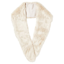 Buy Phase Eight Blake Faux Fur Collar, Cream Online at johnlewis.com