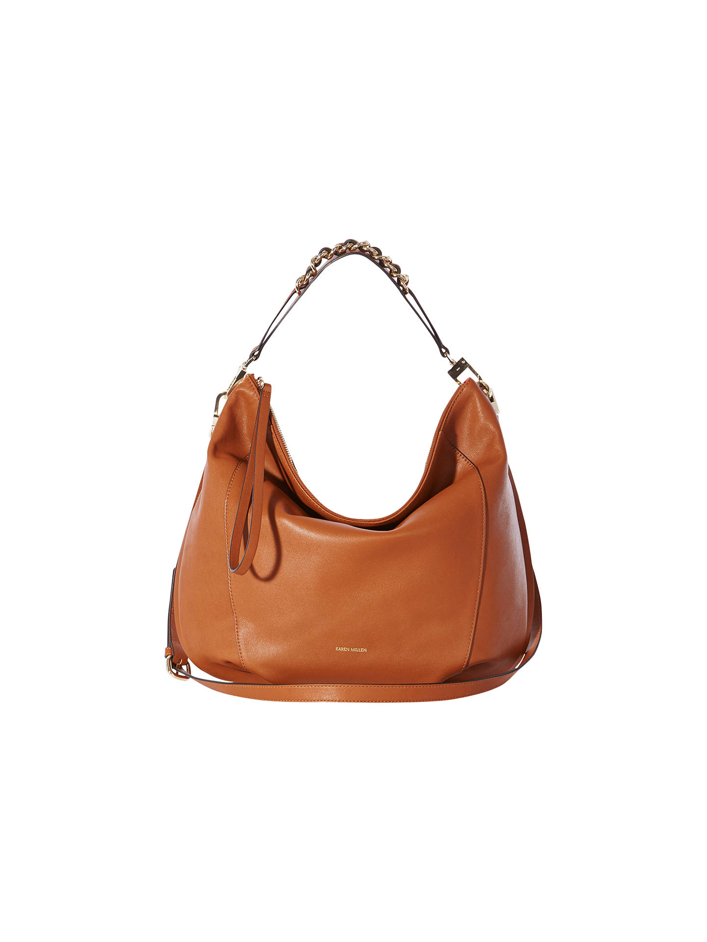 f0414406a3 Buy Karen Millen Leather Chain Sling Shoulder Bag, Tan Online at  johnlewis.com ...