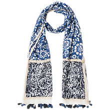 Buy Gerard Darel Fée Cotton Mix Scarf, Blue Online at johnlewis.com