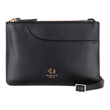 Buy Radley Pockets Leather Small Across Body Bag, Black Online at johnlewis.com