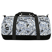 Buy Mi-Pac Tropical Leaf Duffle Bag, Grey Online at johnlewis.com