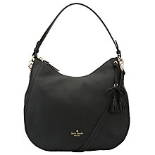 Buy kate spade new york Hayes Street Aiden Leather Satchel, Black Online at johnlewis.com