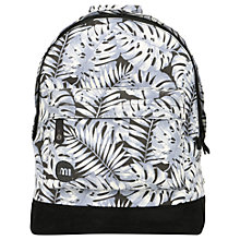 Buy Mi-Pac Tropical Leaf Backpack, Grey Online at johnlewis.com