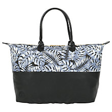 Buy Mi-Pac Tropical Leaf Weekender Bag, Grey Online at johnlewis.com
