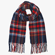 Buy John Lewis Tartan Check Scarf, Red Online at johnlewis.com