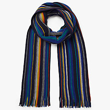 Buy John Lewis Raschel Merino Wool Striped Scarf, Multi Online at johnlewis.com