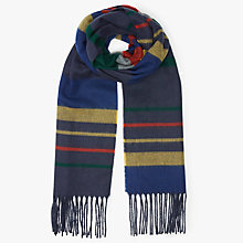 Buy John Lewis Cashmink Horizontal Stripe Scarf, Navy/Multi Online at johnlewis.com