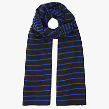 Buy John Lewis Double Stripe Scarf, Blue Online at johnlewis.com