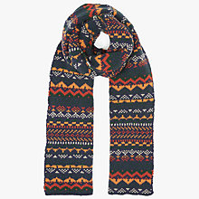 Buy John Lewis Fairisle Knitted Scarf, Multi Online at johnlewis.com