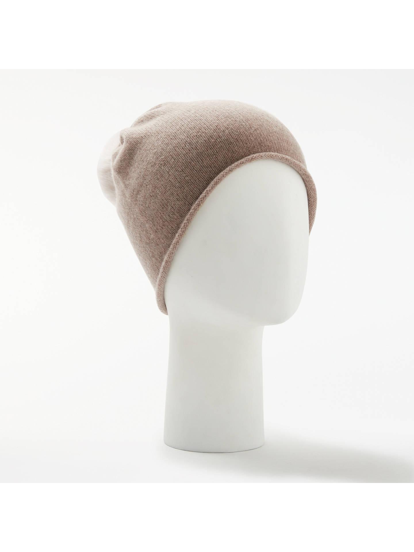 80f918e629d John Lewis   Partners Cashmere Bobble Beanie Hat at John Lewis ...