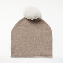 Buy John Lewis Cashmere Bobble Beanie Hat Online at johnlewis.com