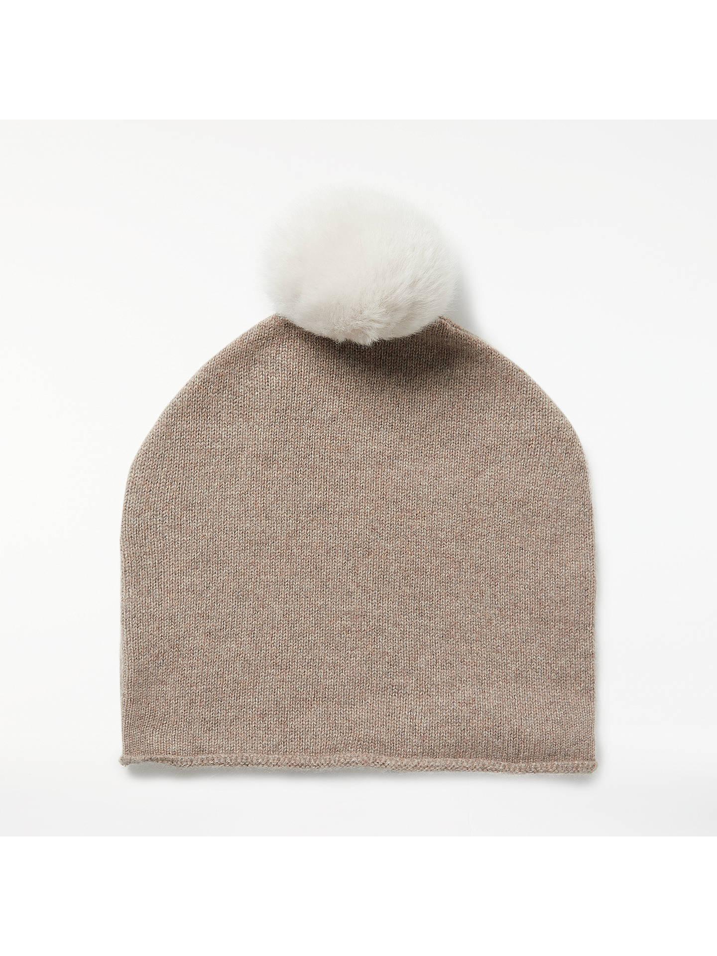 1baa88c60f4dc John Lewis   Partners Cashmere Bobble Beanie Hat at John Lewis ...