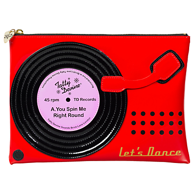 Tatty Devine Record Player Washbag, Red