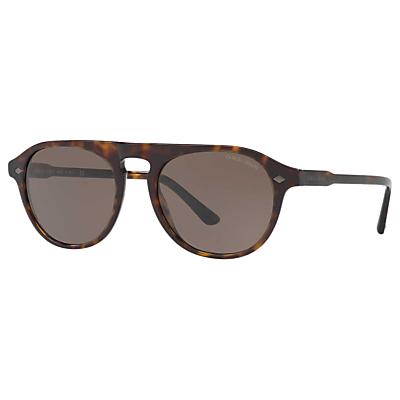 Giorgio Armani AR8096 Frames of Life Oval Sunglasses, Tortoise/Brown