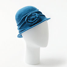 Buy John Lewis Wool Pleat Peony Cloche Hat Online at johnlewis.com