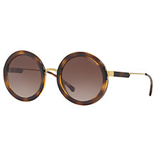Buy Emporio Armani EA4106 Round Sunglasses, Tortoise/Brown Gradient Online at johnlewis.com