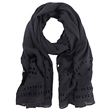 Buy Mint Velvet Geometric Lace Scarf, Dark Blue/Blue Online at johnlewis.com