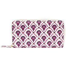 Buy John Lewis Calico Zip Around Purse, Flower Print Online at johnlewis.com