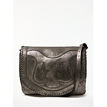Buy AND/OR Maya Leather Slouch Shoulder Bag, Gunmetal Online at johnlewis.com