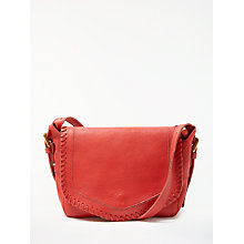 Buy AND/OR Maya Leather Slouch Across Body Bag, Orange Online at johnlewis.com