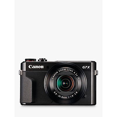 "Image of Canon PowerShot G7 X Mark II Digital Camera, HD 1080p, 20MP, 4.2X Optical Zoom, DIGIC 7 Processor, NFC, Wi-Fi, 3"" LCD Screen with Case & Memory Card Kit"