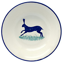Buy Hinchcliffe & Barber Dorset Delft Hare Cereal Bowl, White/Blue, Dia.17.5cm Online at johnlewis.com