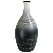 Buy Poole Pottery Aura Tall Bottle Vase, Black/Multi, H26cm Online at johnlewis.com