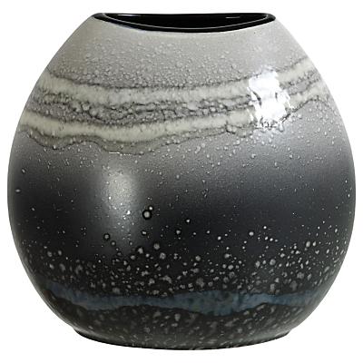 Poole Pottery Aura Purse Vase, Black/Multi, H20cm
