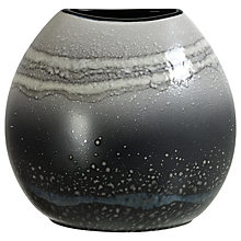 Buy Poole Pottery Aura Purse Vase, Black/Multi, H20cm Online at johnlewis.com