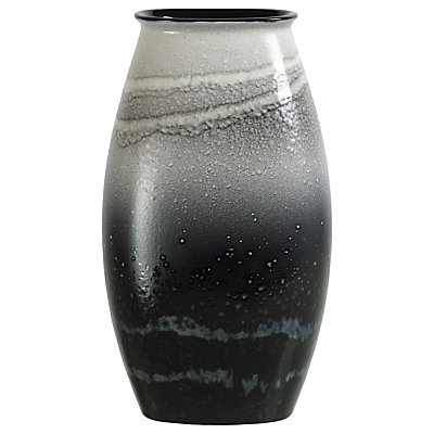 Poole Pottery Aura Manhattan Vase, Black/Multi, H26cm