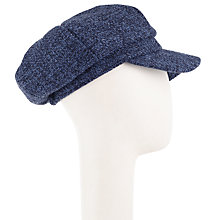 Buy John Lewis Bakerboy Hat, Blue Mix Online at johnlewis.com