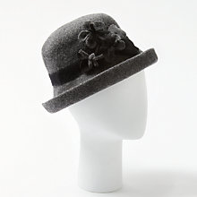 Buy John Lewis Wool Garden Flower Trilby Hat, Charcoal/Black Online at johnlewis.com