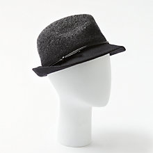 Buy John Lewis Wool Ombre Trilby Hat, Black/Grey Online at johnlewis.com